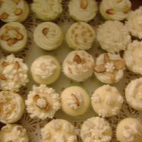 Mini Cupcakes   mini almond cupcakes with butter cream icing
