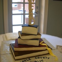 Stack Of Books For A Library Grand Opening The is my Stack of Books for a Library Grand Opening. Kentucky Bourbon cake all, chocolate ganache filling, covered in fondant. The R E A D...