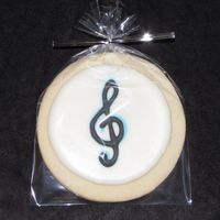 Treble Clef Cookies