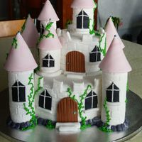 2Tier Castle My first ever castle cake i am soooo in love with it... It is inspired by one from Carol Deacons book but i have tweeked it ie using my...