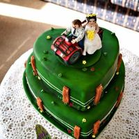 2Tier Heart Farm Wedding Cake