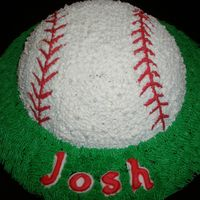 Baseball Cake   This is one of my favorite cakes to make.