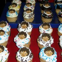 Diego Ice Cream Cup Cakes   The cake batter was baked inside of the ice cream cone. The kids loved them!