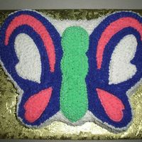 Butterfly Cake   This cake was for my sister birthday.