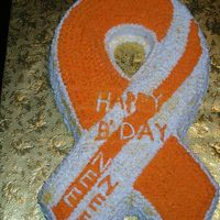 Orange And White   Tenesha Birthday cake.