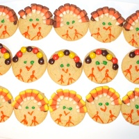 Turkey Cookies Not the best looking, but the kids loved them. Made in 2008 for my son's Thanksgiving Party at Preschool. Sugar cookies with piping...