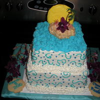 The Keys Wedding  My best friend was wed in the Keys. It was a surprise engagement and within 24 hours, she and her husband were wed. The blue frosting from...