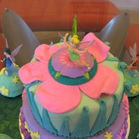 Another Picture Of Tinkerbell Cake For 4Th Birthday