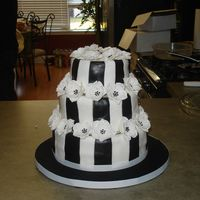 Black And White Bride to be picked the cake from my Peggy Porschen book. I had the worst trouble with the black fondant. they loved the cake. I'm so...