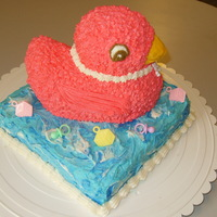 Baby Duck This Strawberry Cake Duck is perfect for a Baby Shower for a girl. Completed with Buttercream Icing.