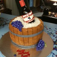 Wine Bottle Wine bottle made of sugar... Fondant barrel.