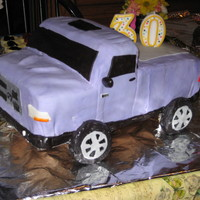 Pickup Truck WASC with buttercream and fondant details