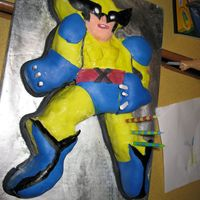 Img_1012.jpg   My first attempt at carving a cake...my son wanted wolverine....I did my best!