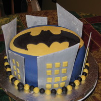 Gotham City Batman Cake   My 6 year old son wanted a Batman themed party, this was my version of a Gotham City/Batman theme