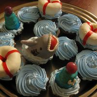 "Shark Cupcakes   From the ""Hello Cupcake"" book."