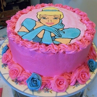 Cinderella Fbct For My Daughter's 3Rd Birthday  12 inch round french vanilla cake with vanilla pudding filling and brown sugar smbc mixed 50/50 with american buttercream. Cinderella is a...