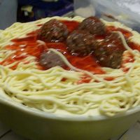 April Fool's Spaghetti Cake