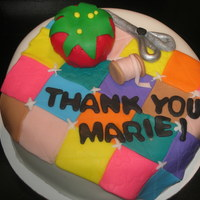 Quilting Thank You Cake