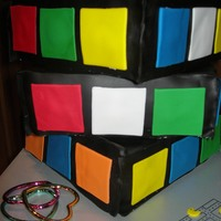 Rubiks Cube LARGE rubiks cube cake for an 80's party