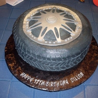 "Boys And Their Toys This cake was for a young man who is in love with his car, especially his high dollar rims. 14"" WASC with buttercream icing and..."