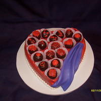 Valentine Heart Shaped Cake With Cake Balls