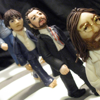Beatles - Abbey Road I made this for my Son-in-law who loves everything 'Beatles'. The 4 figures are made of fondant/gumpaste. Walking on a '...