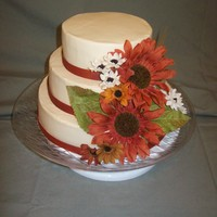 Fall Flower Wedding Cake