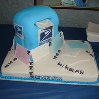 Mailbox Cake   This was done for a retirement party!