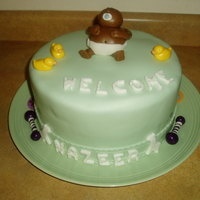 Baby Shower Baby shower cake made with MMF, and MMF decorations.