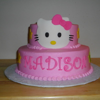 Hello Kitty BC icing w/fondant accents...TFL!
