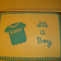 Onesie Baby Shower Cake BC icing w/fondant accents.....TFL!!!