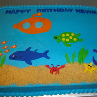 Under The Sea BC icing...fondant accents...TFL!