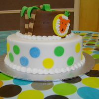 King Of The Jungle BC icing w/fondant accents....TFL!