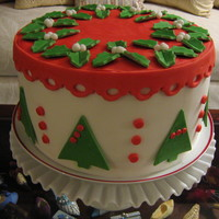 Retro Christmas Cheer   Chocolate Fudge & Almond Butter cake with Cannoli filling. MMF accents. TFL :o)