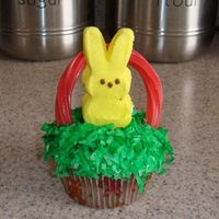 My First Cupcakes This is a chocolate cupcake with flaked coconut. Also with a bunny mm and a twillers.