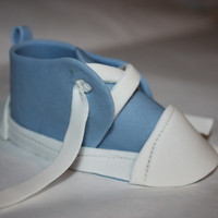 Blue Baby Bootie Made entirely of gumpaste. Thanks to all of the CC'ers for their inspiration on this one! TFL!