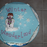 Winter Wonderland Cake This was made in a pastry school class. Hexagonal shape covered in fondant with gumpaste and fondant accents. This was a lot of fun to do!...