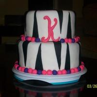 18Th Birthday Cake   8 and 10 inch covered in fondant