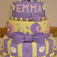 Alyssa's Baby Shower Cake This is a cake I made for a good friend who is having a baby girl named Emma. It was a gift from me. The bottom tier is yellow cake (...