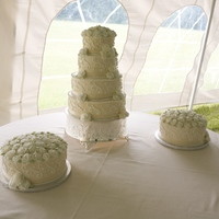 My Very Own Wedding Cake This is my wedding cake. This is the very first wedding cake we have ever made. Talk about stressful! But in the end it was wonderful. The...