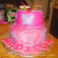 8 Year Olds Birthday Cake Made this cake for an 8yr old girl. As you can see she LOVES pink.