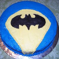 Batman Logo Cake Thanks to a lot of others on CC for the inspiration of this cake. I needed a small cake to go along w/ a Batman shaped cake for my grandson...