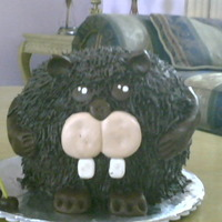 Beaver Cake I take the idea from here, its a chocolate cake, with oreo pidding filling, thank you for looking!