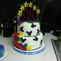 Mickey 1St Birthday   1st Birthday cake - all fondant - TFL