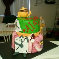 Alice In Wonderland   This cake was so much fun! All fondant....with airbrushing. TFL!