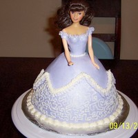 Princess Cake Made with a wondermold pan and covered with satin ice and buttercream. Thanks for looking.