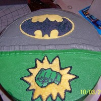 Batman/hulk This was for 2 boys with birthdays in the same week. Mom wanted to avoid fights so we split the 2 themes right down the middle. I'm...