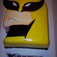 Wolverine Man. X-Men  Cake was for 13 year old boy. My version of the Wolverine Man from the X-Men movie. Cake was chocolate with chocolate butter cream frosting...