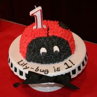 One-Year-Old Ladybug Birthday Cake This is the cake that started it all! :) I made this for my daughter's first birthday, then decided I had better actually learn how to...