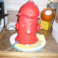 Fire Hydrant My first cake disaster that was for a family member. The cake got too warm sitting and it began to lean and ended up cracking by the time...